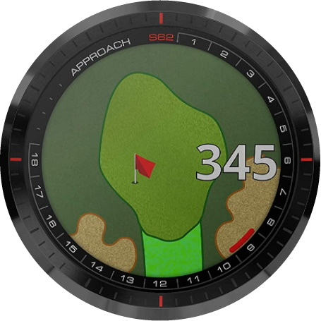 Golf GPS Watch Display Example