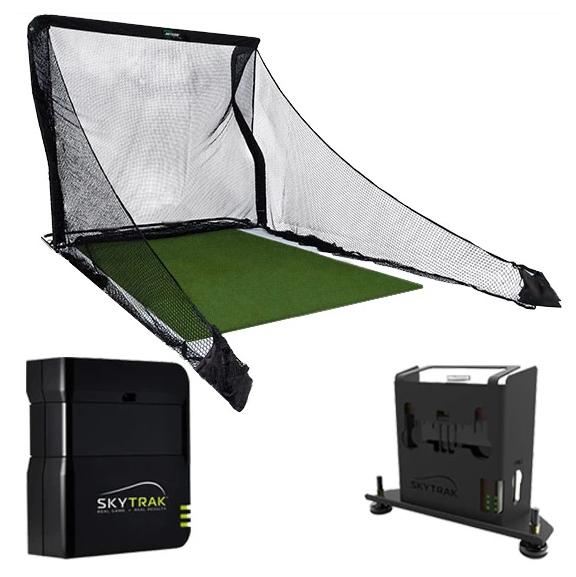 SkyTrak Practice Golf Simulator Setup
