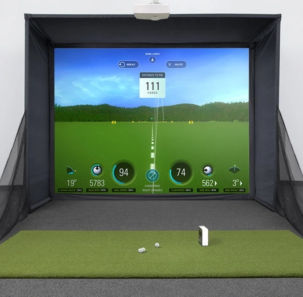 SkyTrak SwingBay Golf Simulator Setup 2