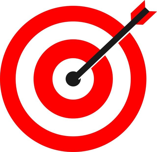 Bullseye with dart