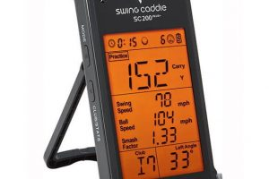 Voice Caddie SC200 PLUS Launch Monitor - Angled View