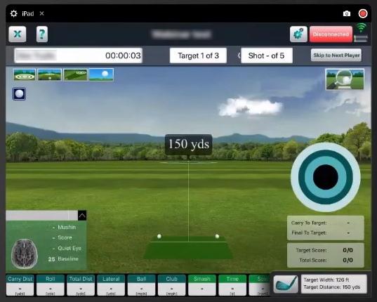 FlightScope FS Skills App Sample Look
