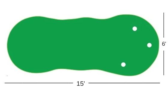Putting Green Size Diagram