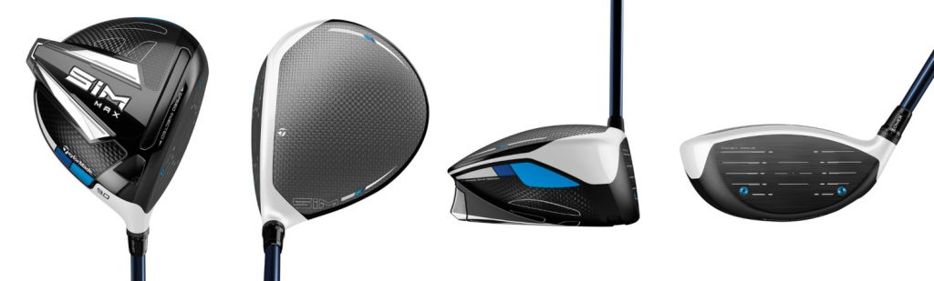 TaylorMade SIM Max Driver - 4 Perspectives