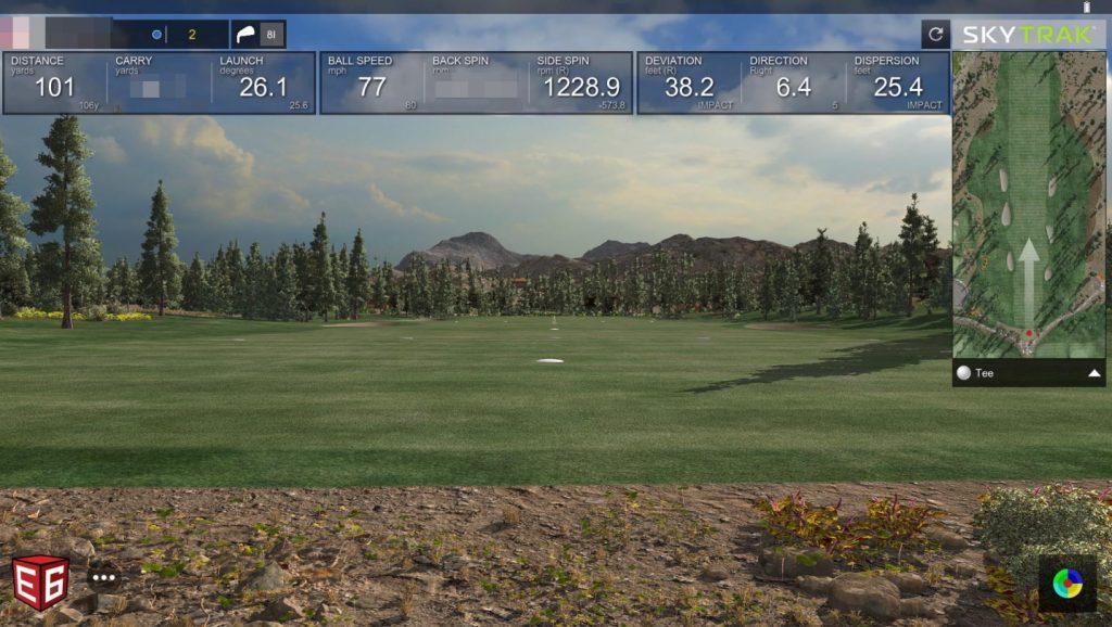SkyTrak Simulation - E6 Practice Range View
