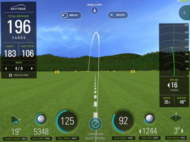 SkyTrak Practice Range