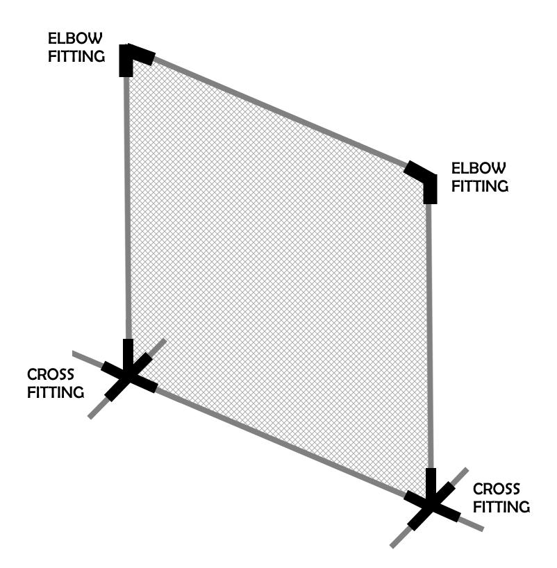 DIY Golf Net Sample Diagram