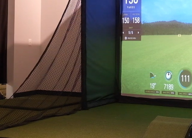 SkyTrak SwingBay Simulator Layout w/ Side Barrier Netting & Floor Mount Enclosure