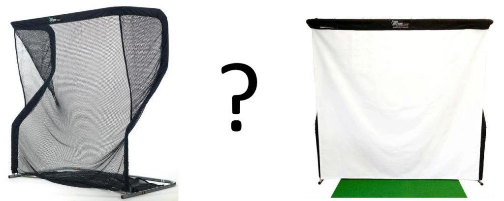 Golf Simulator - Net Vs. Screen?