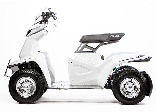 ELLWEE Easy Electric Cart - White, side view
