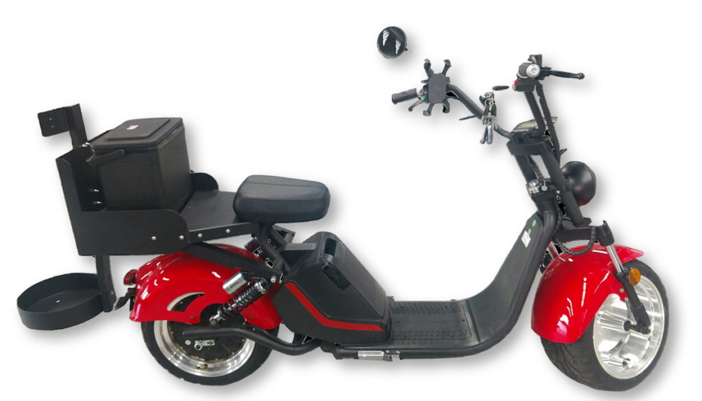 """Fat Tire """"The Cruiser 3.0"""" Electric Golf Scooter - Side View"""
