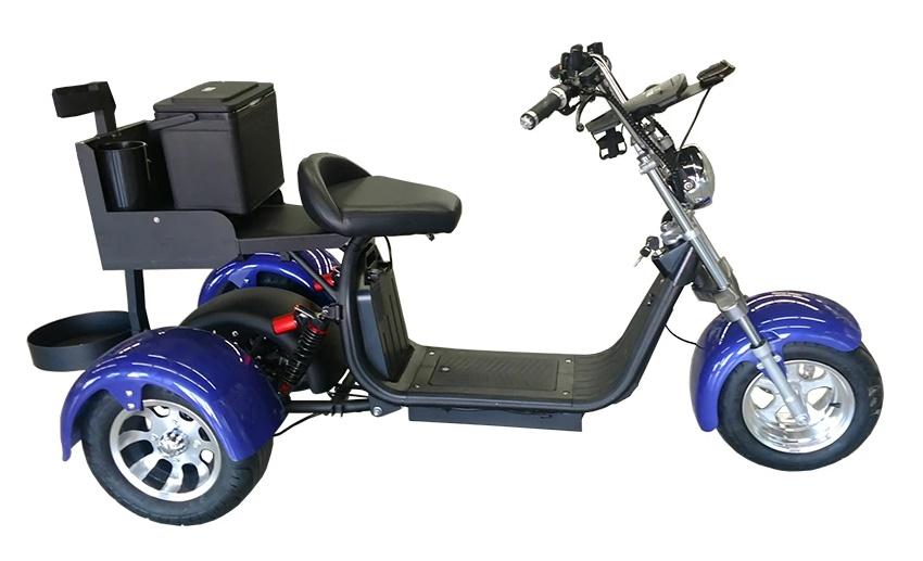 "Fat Tire ""Rebel Trike XR"" 3-Wheel Electric Golf Scooter - Side View"