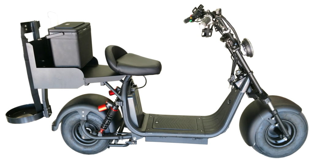 """Fat Tire """"Rebel XR"""" Electric Golf Scooter - Black, Side View"""