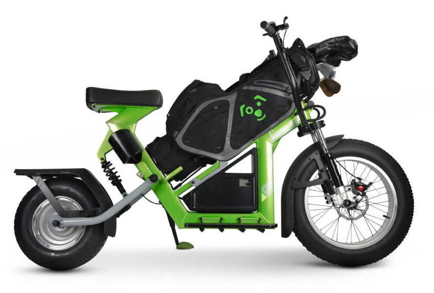 Finn Cycle Electric Golf Scooter - Green, Side View