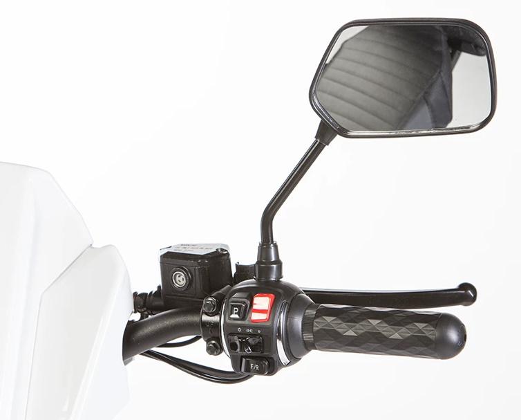 ELLWEE Easy Resort Electric Cart - handlebars & side mirror