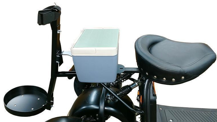 Electric golf scooter cooler, bag holder, seat accessories