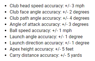 Garmin Approach R10 Radar Accuracy Numbers