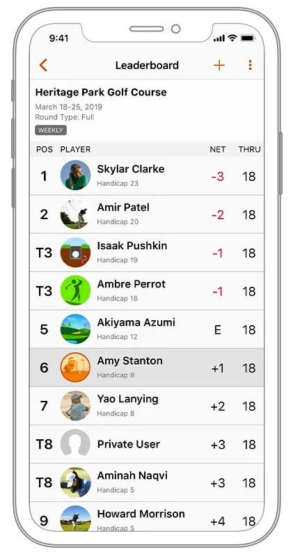 Garmin Golf App - Tournaments & Sharing